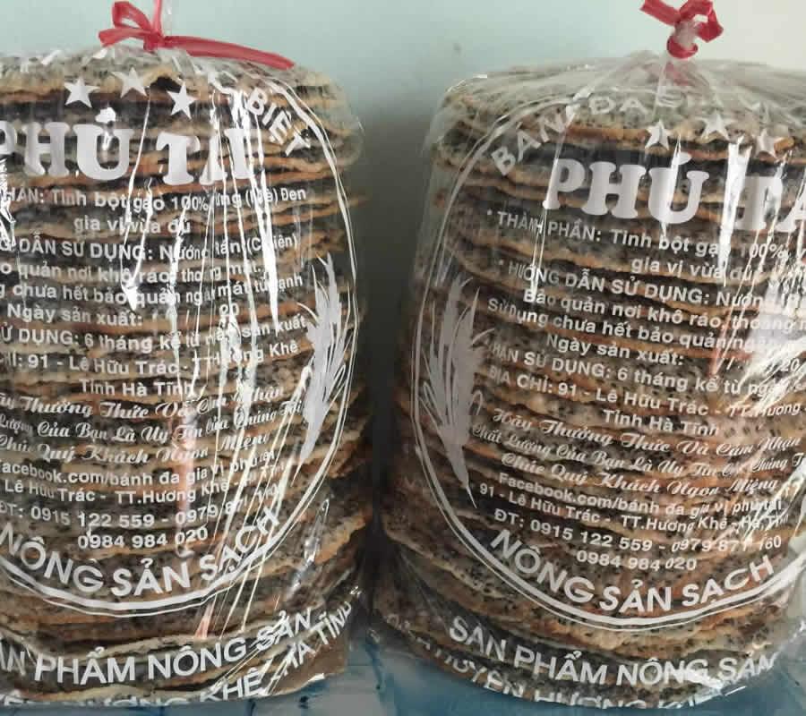 Bánh đa gia vị đặc biệt Phú Tài Hà Tĩnh